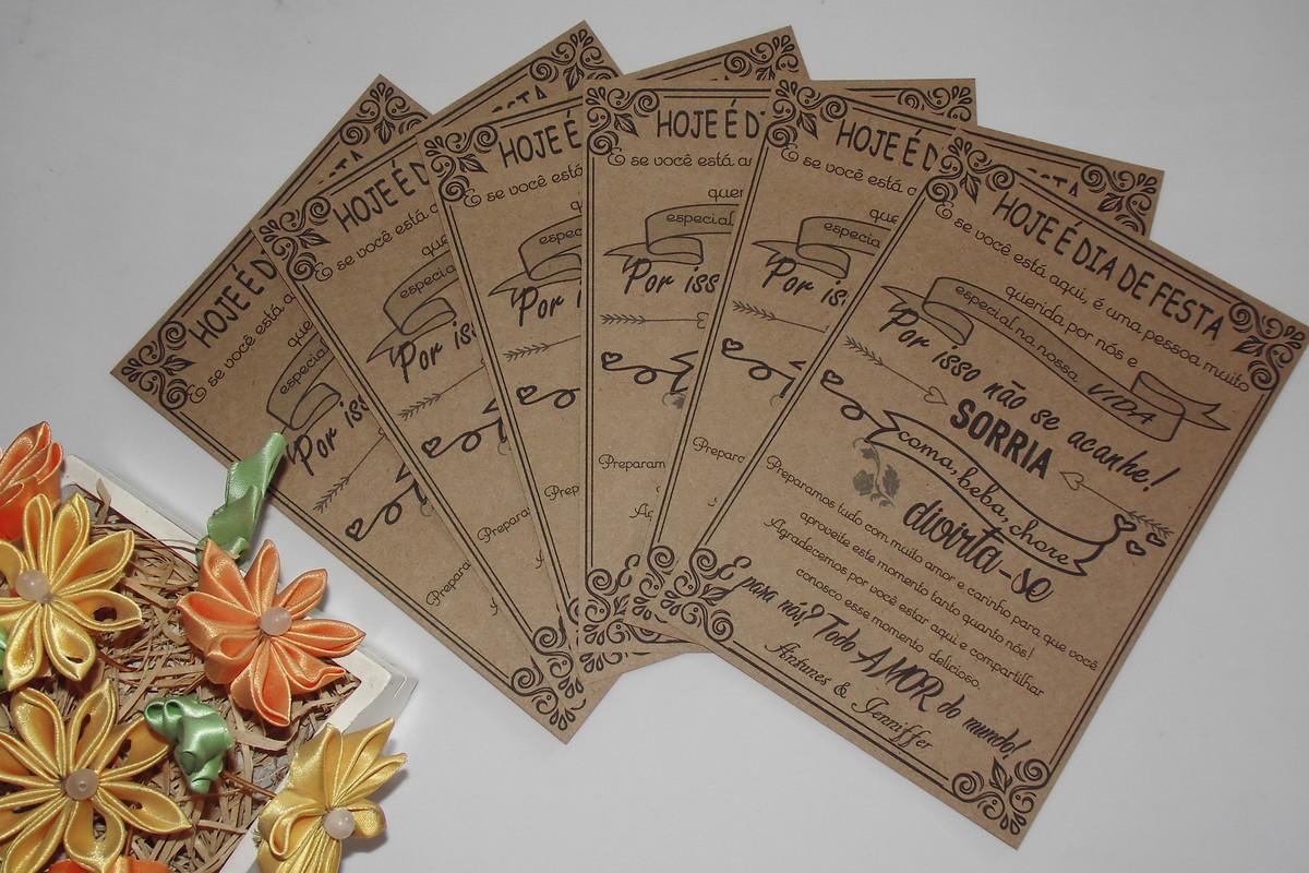 Cartão de agradecimento rústico no Elo7  0c1da99bfbb80