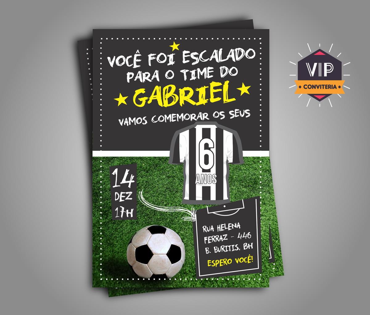 42513bf52e Convite DIGITAL Botafogo no Elo7