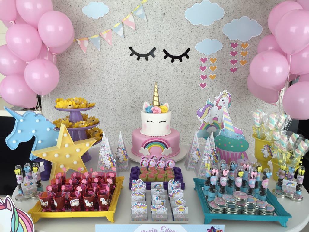 Par de cílios festa unicórnio no Elo7 MBarone (AF23FD) -> Decoracao De Unicornio Infantil
