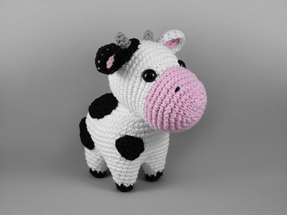 Amigurumi Vaca : Mini vaca amigurumi no elo novelim blue af ee