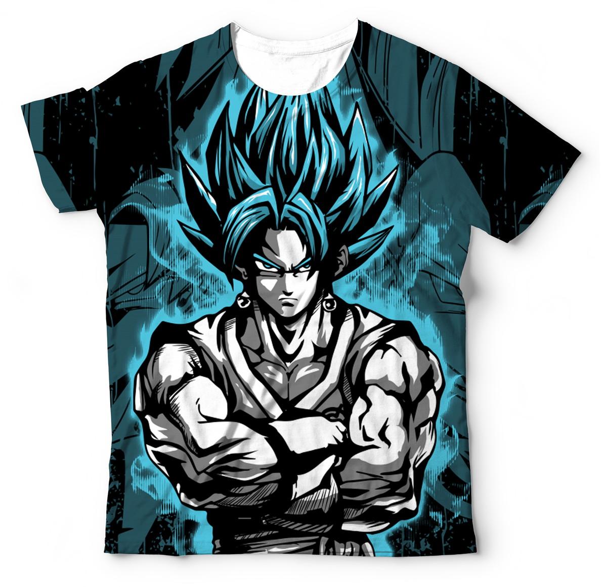 d6fe45c99a Camisa Camiseta Blusa Dragon Ball Super Vegetto Gogeta DBZ no Elo7 ...