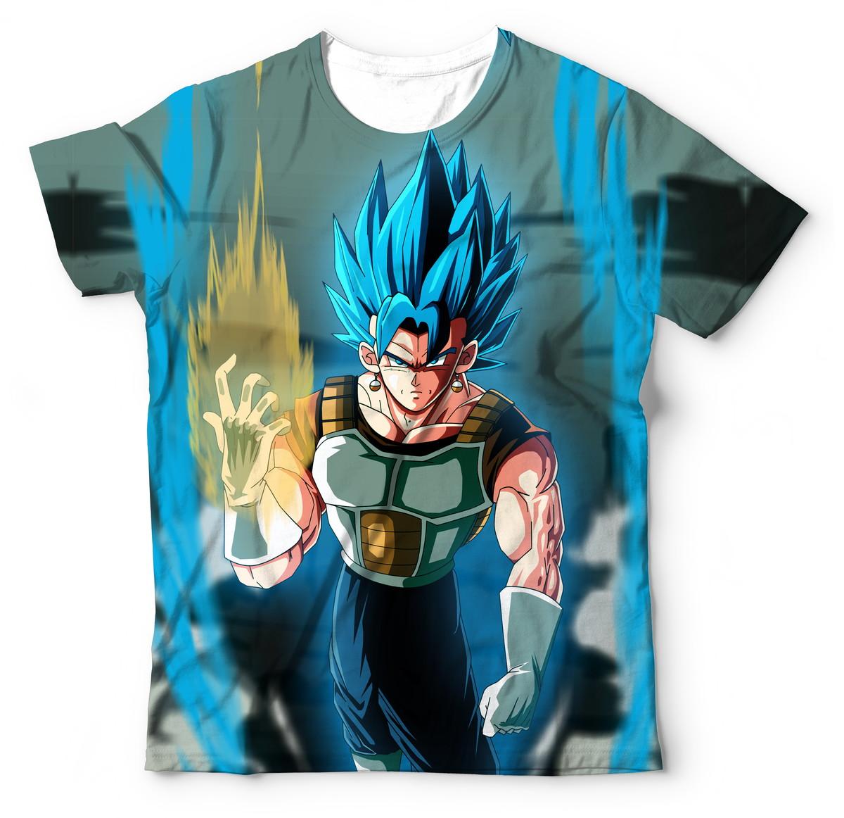 e7a5f2ccc2 Camisa Camiseta Blusa Dragon Ball Super Vegetto Gogeta SSJ no Elo7 ...
