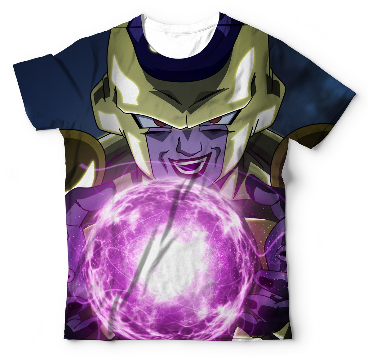 Camisa Camiseta Blusa Dragon Ball Super Freeza Dourado no Elo7 ... d7ac3a2097e