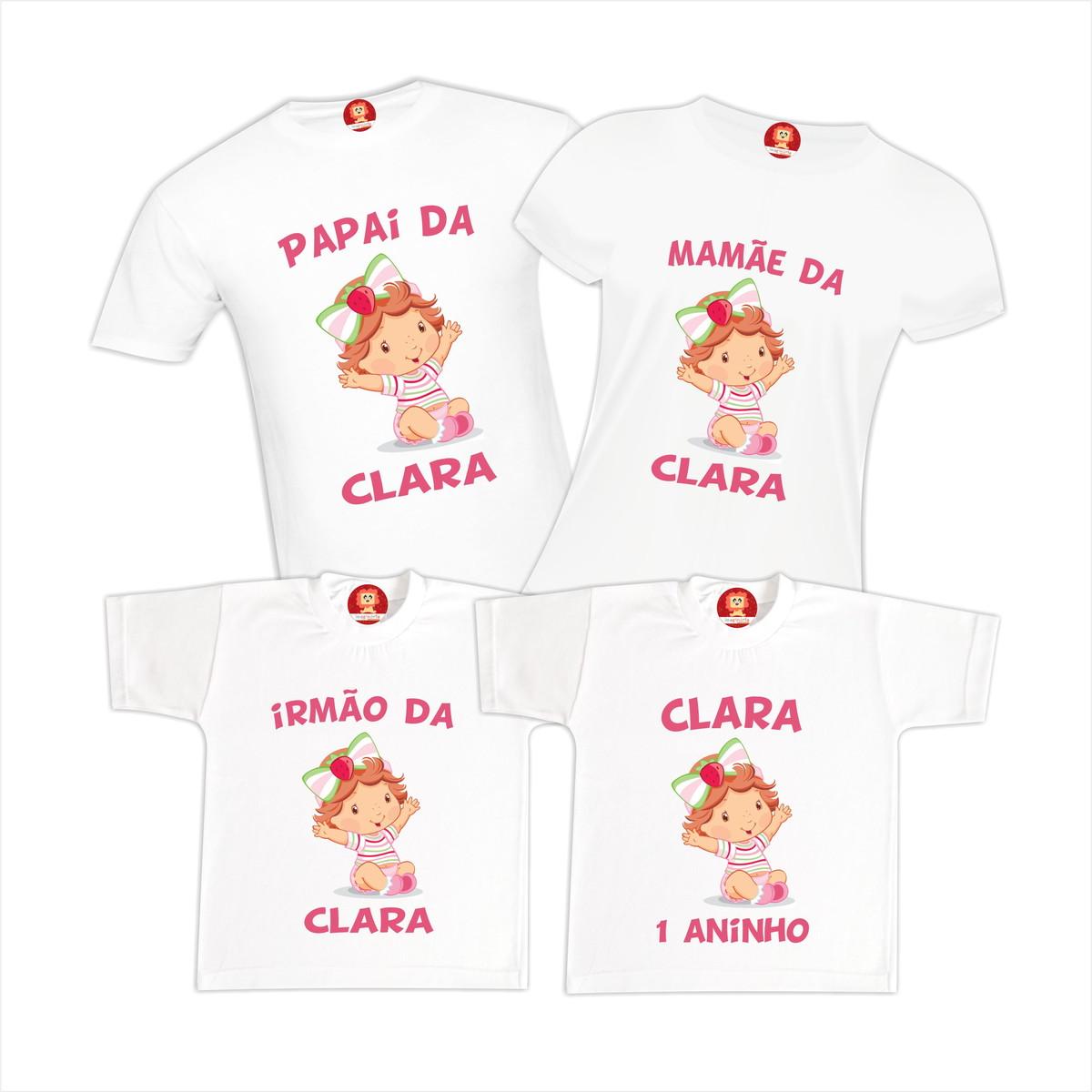 Camiseta Aniversário Moranguinho Baby no Elo7  12ab8e99ea9