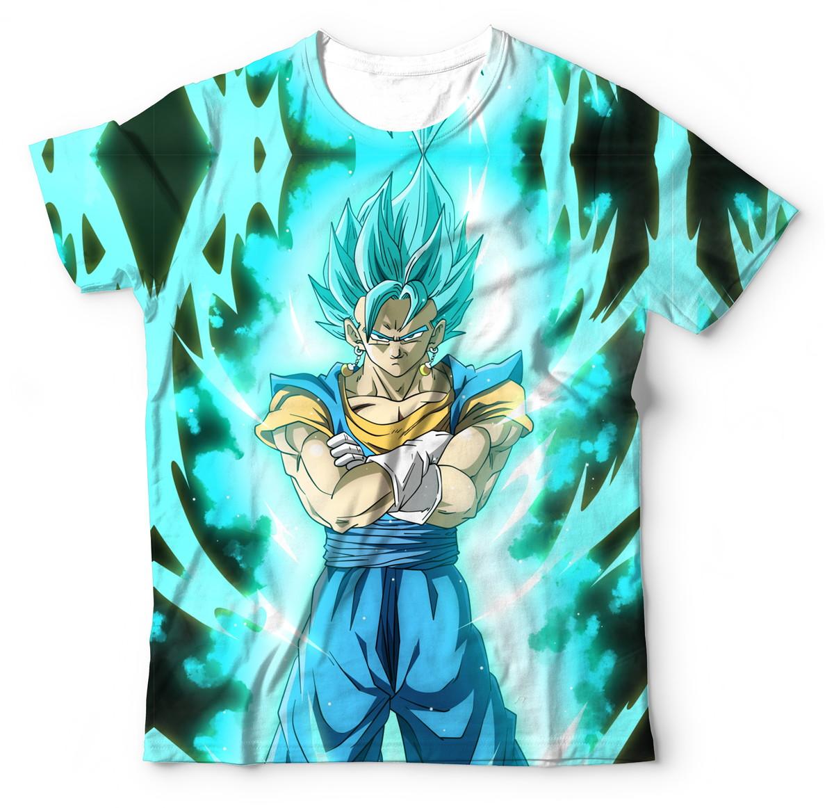 8065b45371 Camisa Camiseta Blusa Dragon Ball Super Vegetto Blue DBZ no Elo7 ...