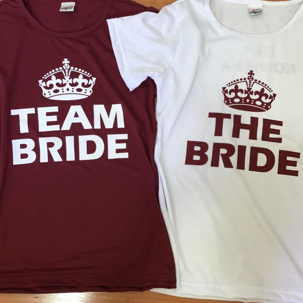 ba44571bda Camiseta Despedida Solteira Team Bride no Elo7