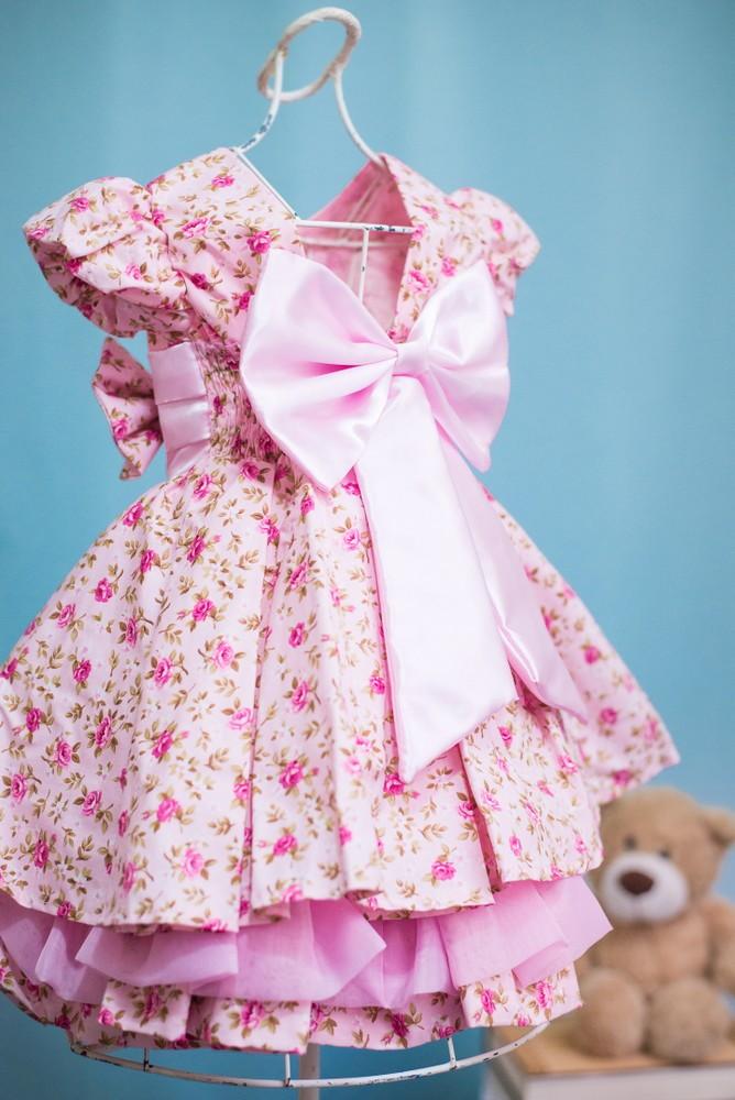 97c60d3a3 Vestido Infantil de Festa Floral Rosa no Elo7 | AnaGiovanna Vestidos ...