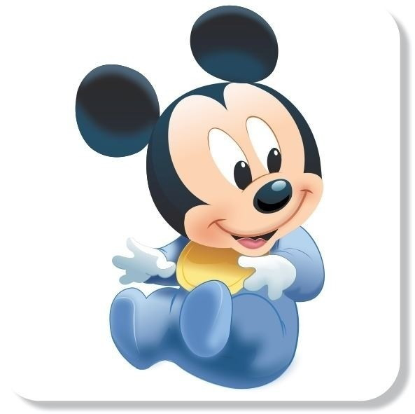 Adesivo Mickey Baby Disney Alta Resolucao Nome Filho No Elo7