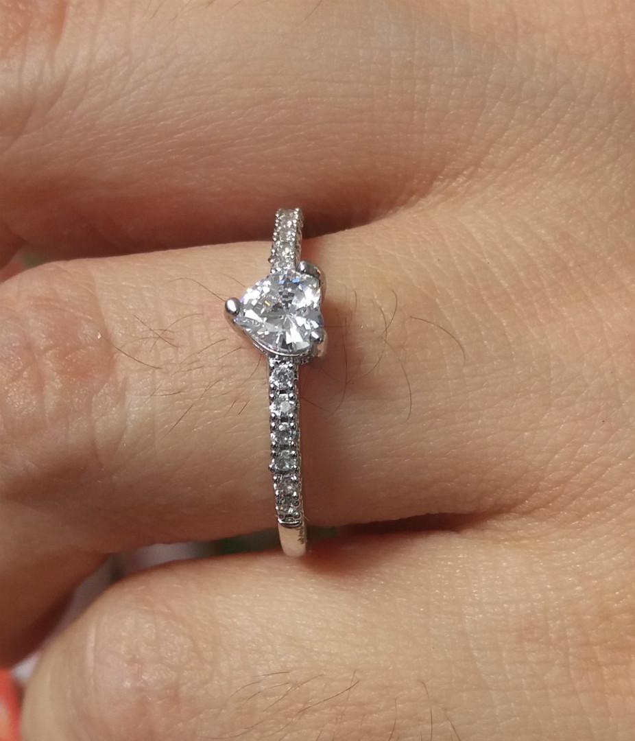 30a8f45f7fc0b Anel Solitário Noivado Casamento Banhado Em Prata no Elo7 ...