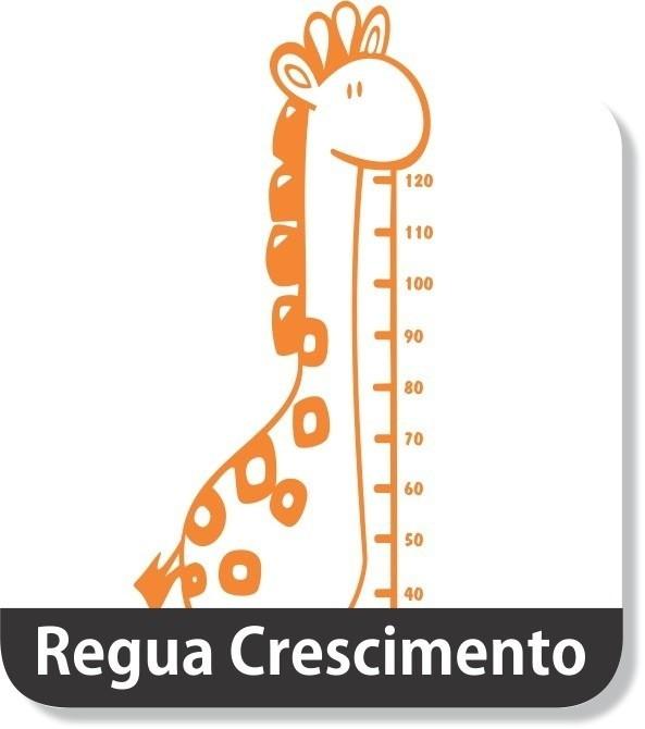 Regua Crescimento Adesivo Decorativo Girafa Girafinha Parede No