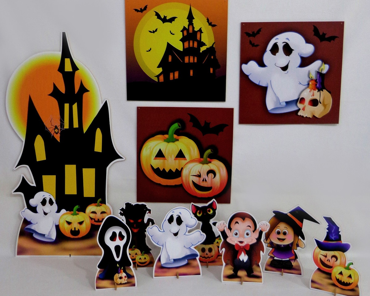 Decoracao De Festa Infantil Tema Halloween.Kit Decoracao Festa Infantil Halloween