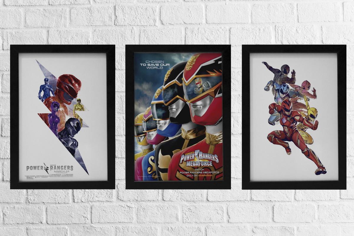 06a12edf3b7 KIT 3 Quadro Power Rangers no Elo7