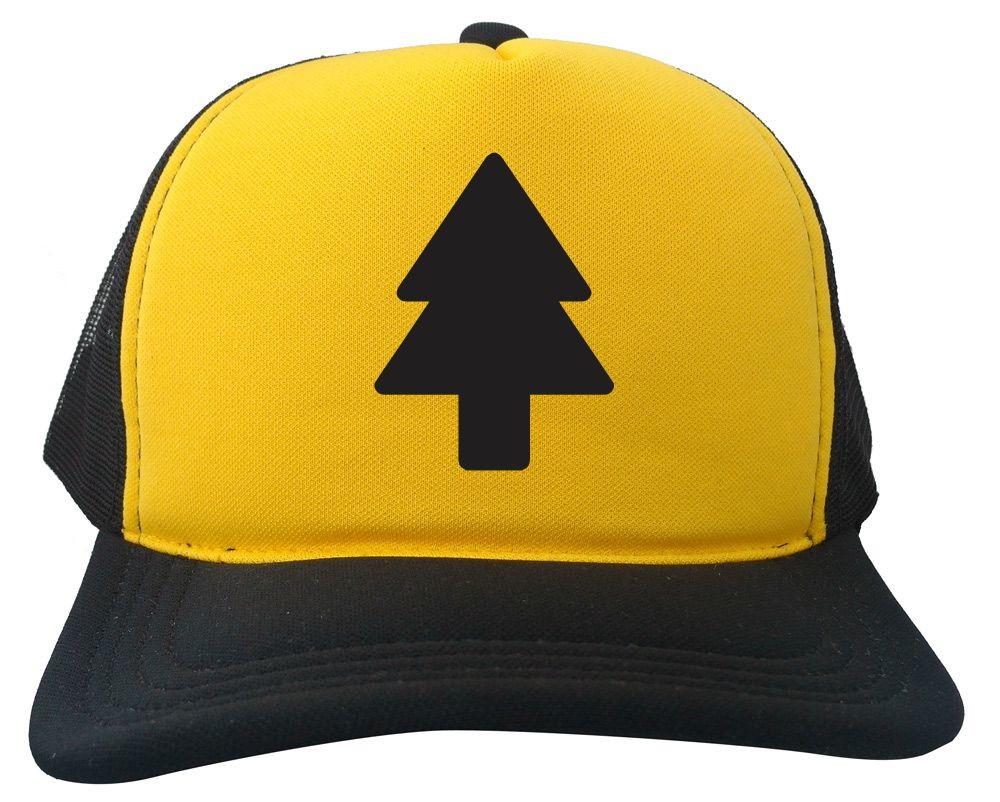 Boné Trucker Dipper Pines Gravity Falls Amarelo e Preto no Elo7 ... f7d466c4e79