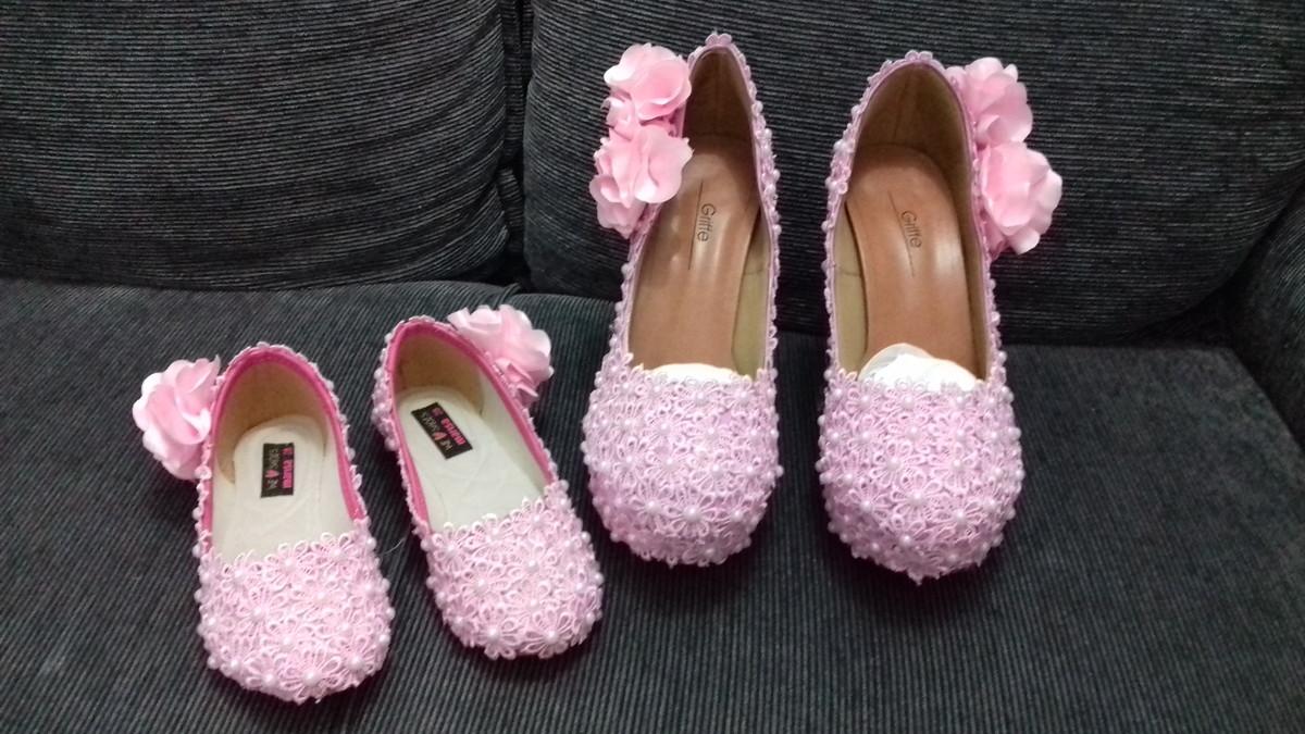 24e1cf01c9 Kit Sapato noiva e Daminha personalizados no Elo7