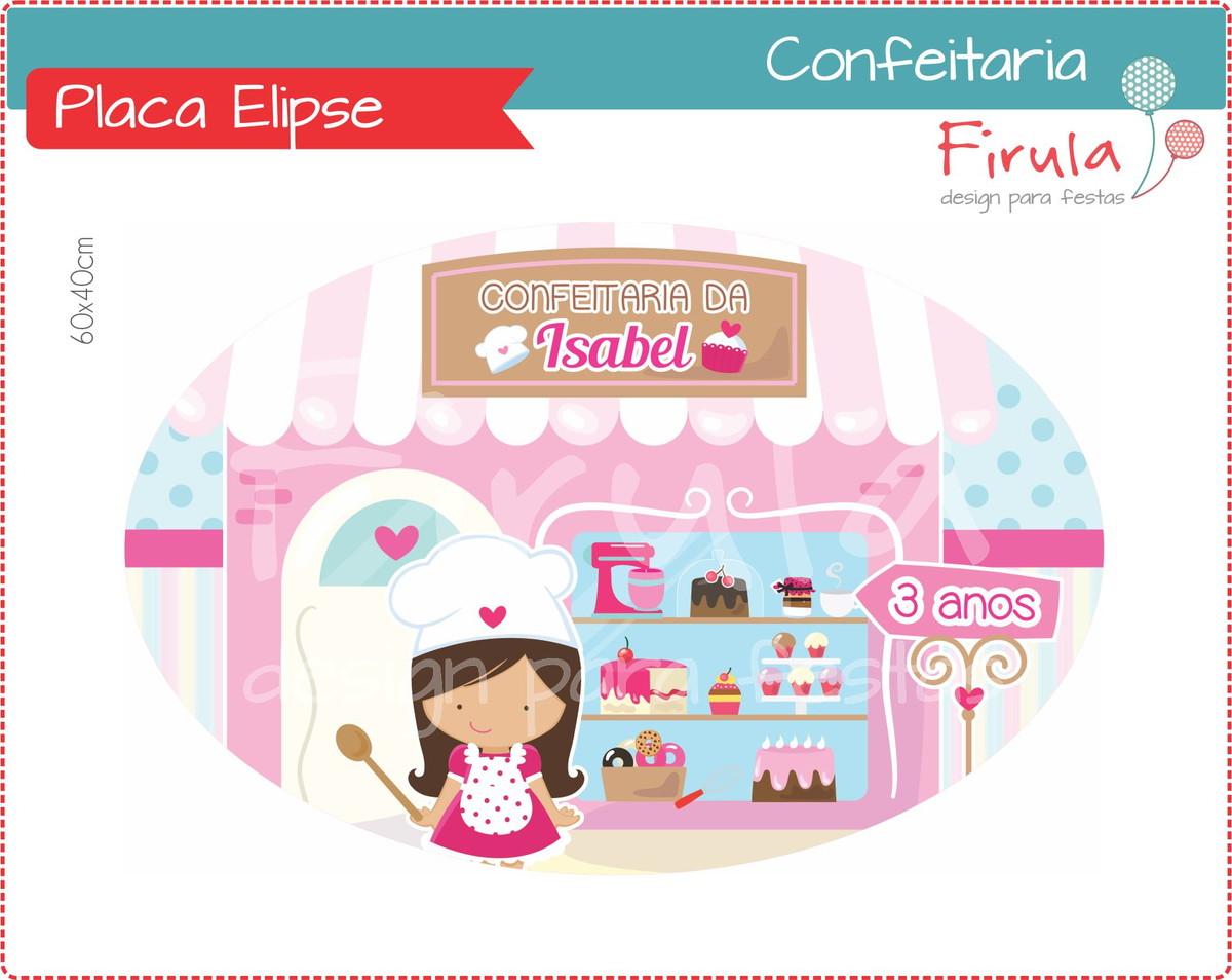 Placa Elipse Digital Confeitaria no Elo7  a5eac2217e0a8