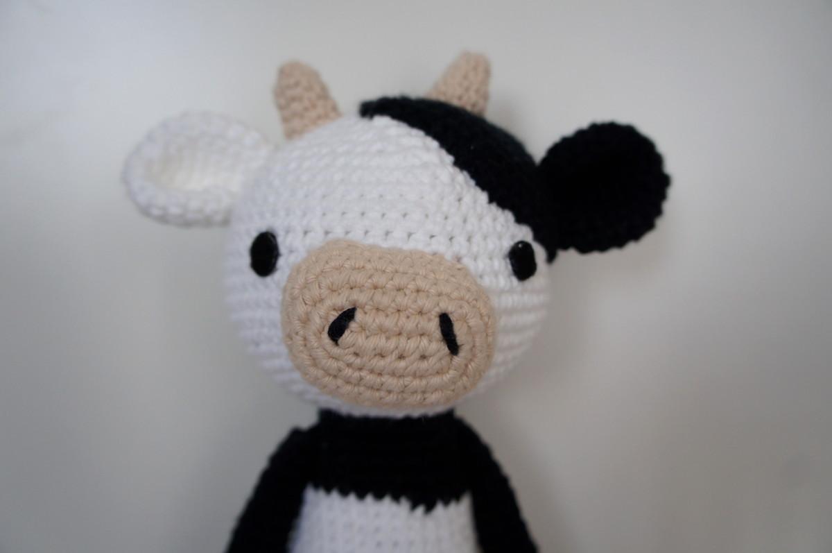 Amigurumi Vaca : Amigurumi vaca grande fio de sonho elo