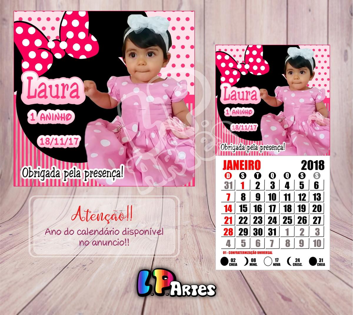 Calendario Rosa 2020.Mini Calendario 2020 Minnie Rosa
