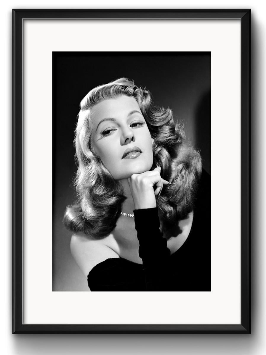 quadro rita hayworth preto branco com paspatur no elo7 red rose