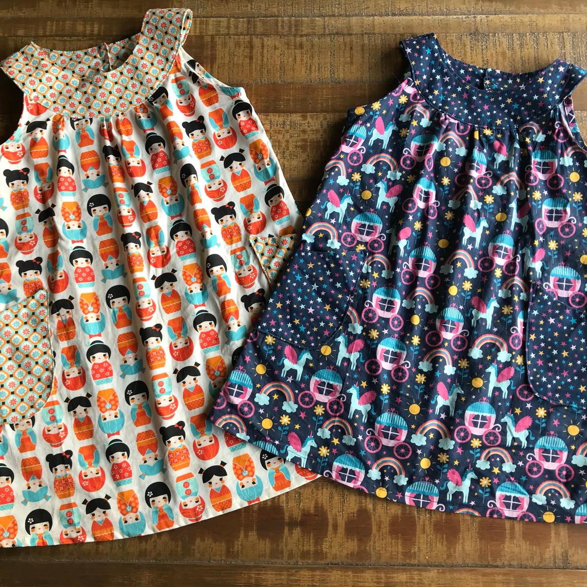 d305793323 Vestido infantil em tricoline no Elo7