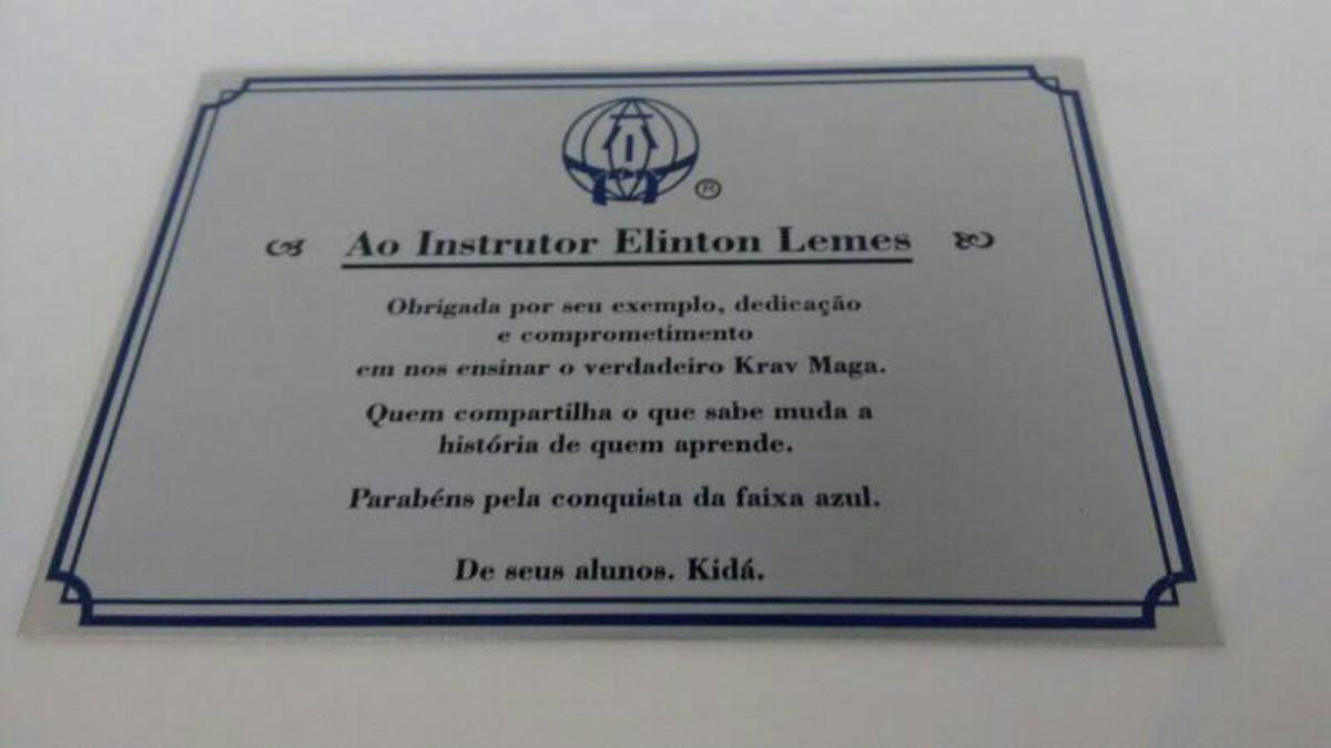 Placas De Homenagem No Elo7 Placas Machado Comunicação Visual B119de