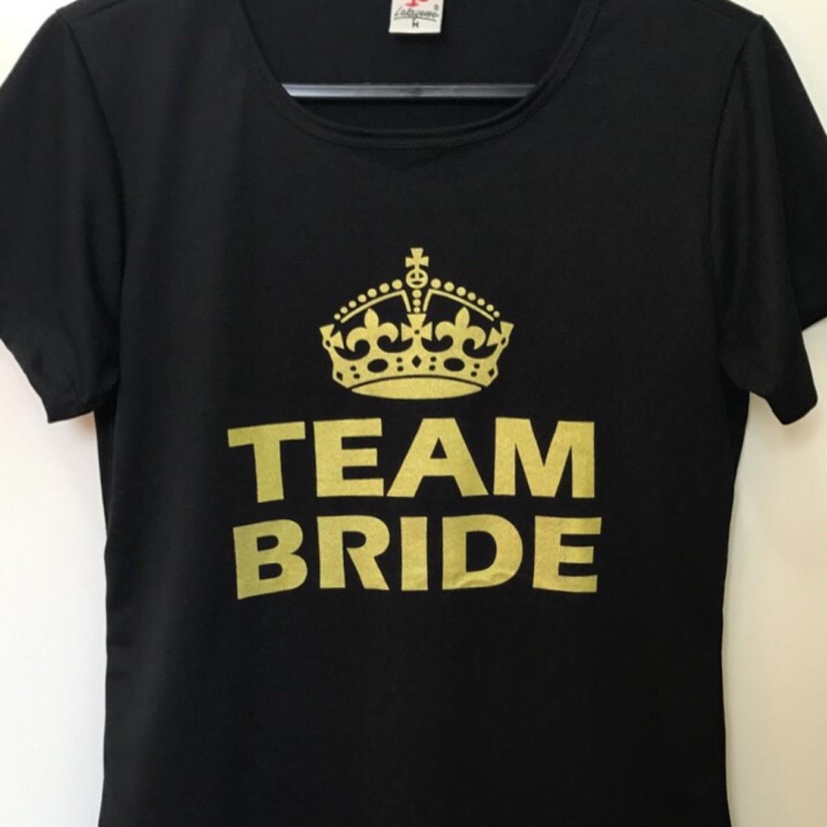 84d571788 Camiseta Despedida Solteira Team Bride no Elo7