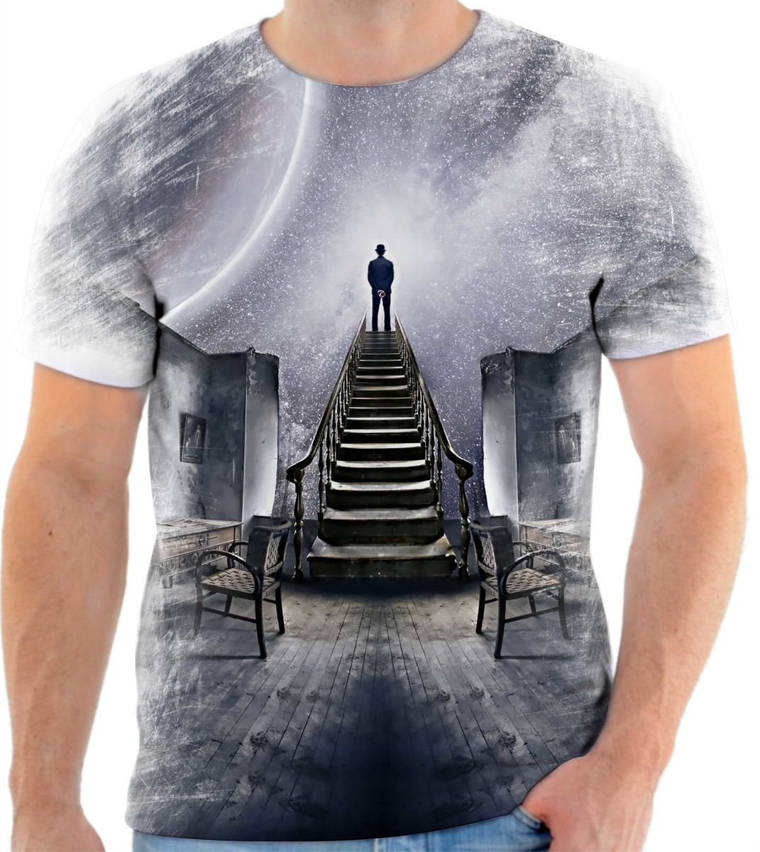 6ec67c87af Camiseta Personalizada Homem Universo Planeta Estrela no Elo7 ...