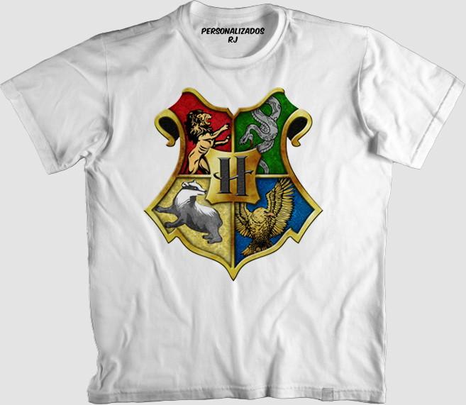 a1b2bb8fc Camisa HARRY POTTER - BRASÃO DE HOGWARTS - SONSERINA no Elo7 ...
