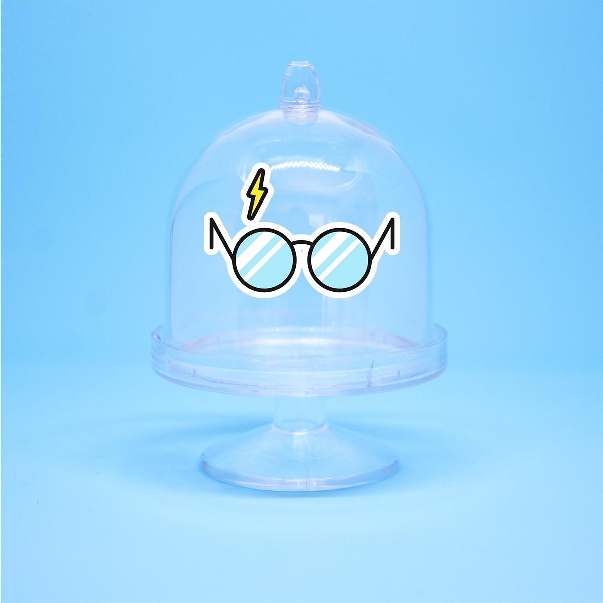 5a7794bc3e5f7 Mini-cúpula com aplique - Harry Potter óculos no Elo7