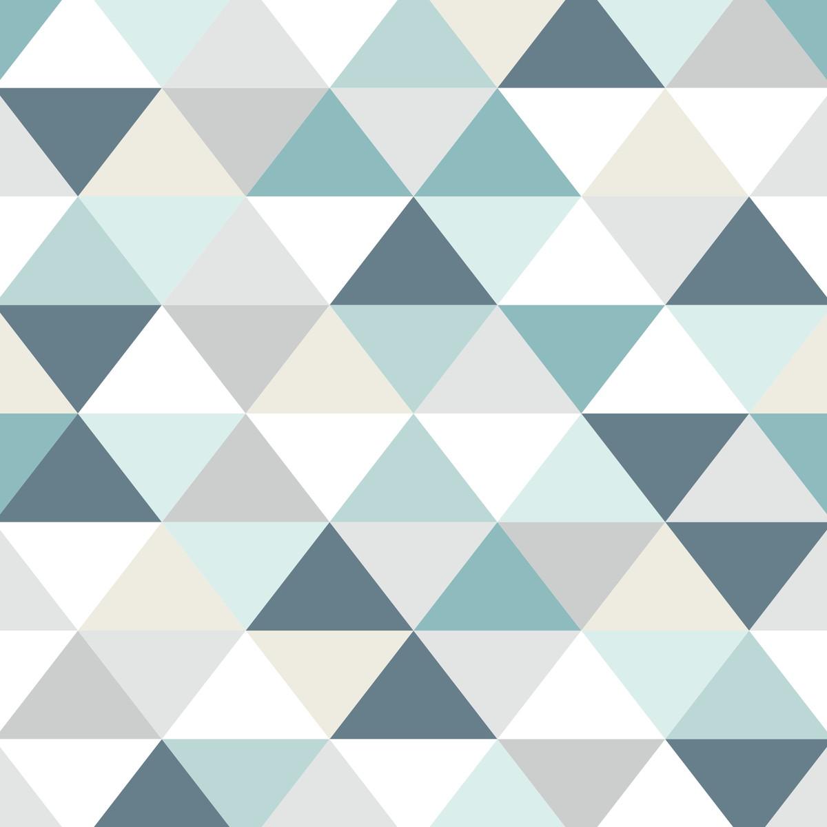Conforama Aparador Nova ~ Adesivo Papel de Parede Geométrico Tri u00e2ngulo Azul no Elo7 Cola Mais Adesivos (B14BFA)