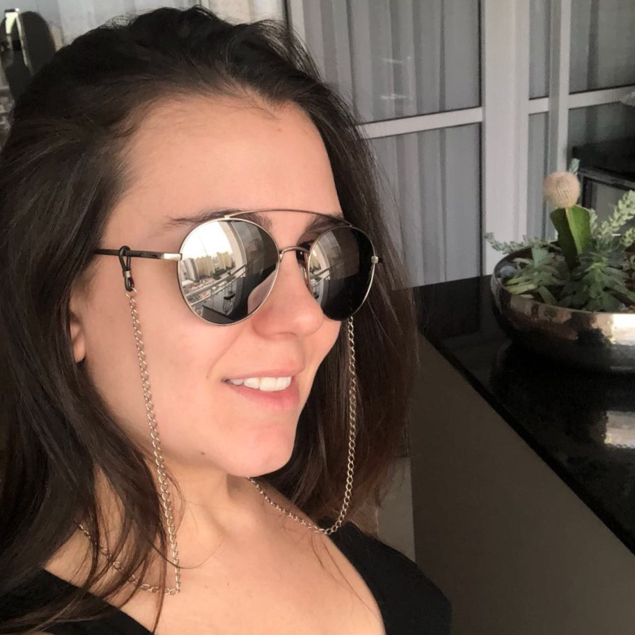 12beedebf6662 Cordinha de óculos prata no Elo7