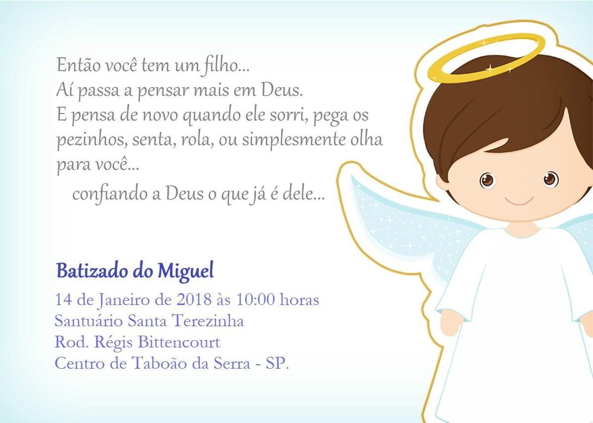 Convite Batismo E Convite Para Padrinhos No Elo7 Fernanda De