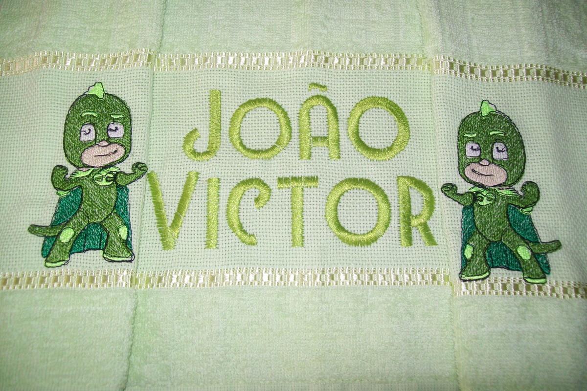 e633fc212a Toalha de Banho Bordada - Gekko PJ Masks no Elo7