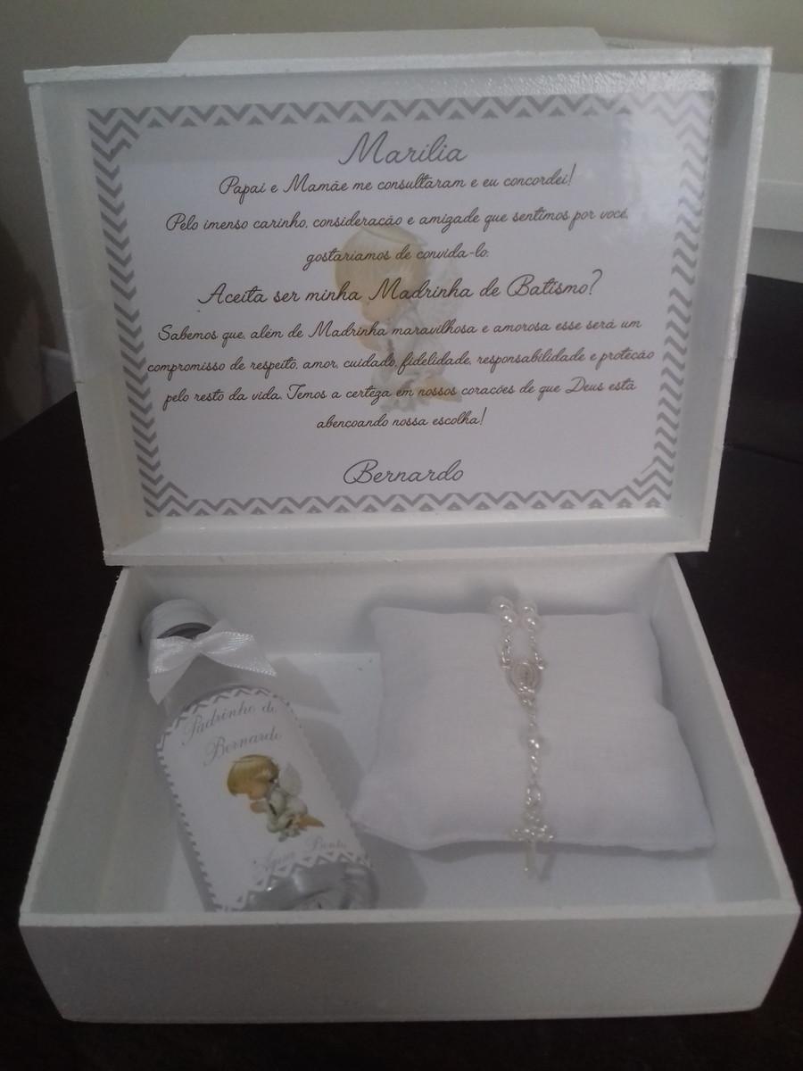 Caixa Convite Para Padrinhos De Batismo