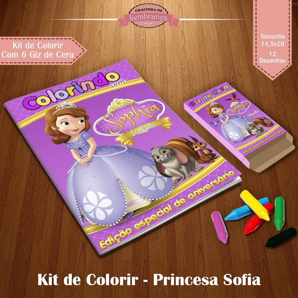 Kit De Colorir Princesa Sofia No Elo7 Gracinha De Lembranca