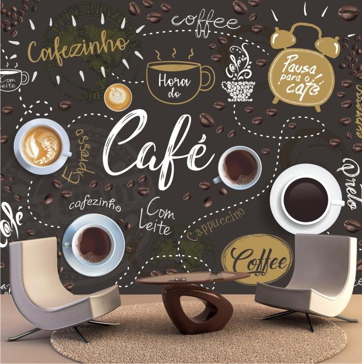 360b6fbb3 Papel De Parede Cozinha GG Lavável Café Cafeteria M100 no Elo7 ...