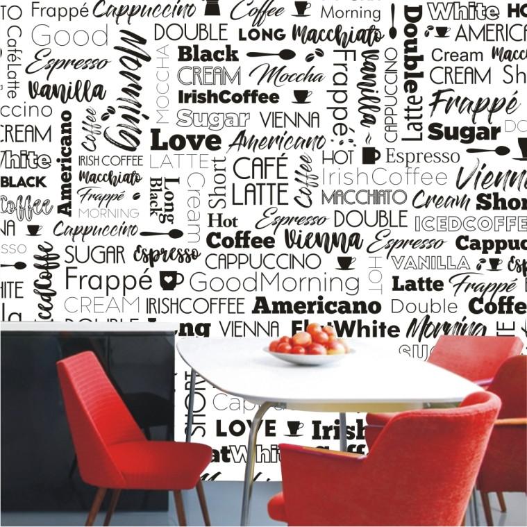 2e847a872 Papel De Parede Adesivo Gourmet Cafe Cozinha Cafeteria M115 no Elo7 ...