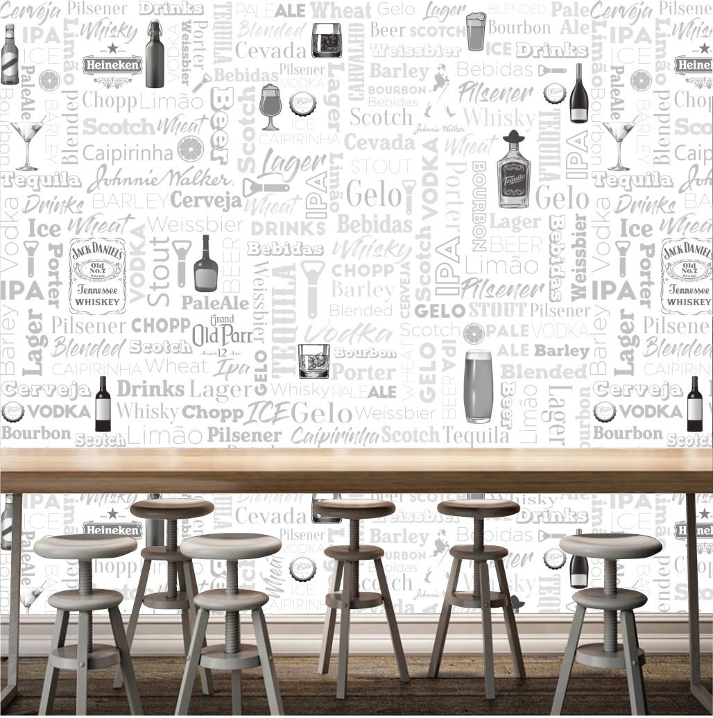 Adesivo Decorativo Bar Frases Bebidas Painel Gg Cerveja M119  ~ Frases De Limpeza Na Cozinha