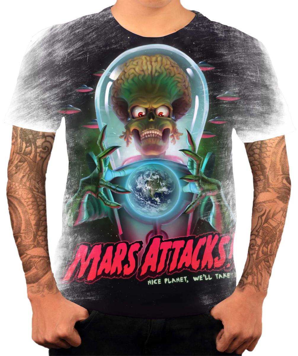 Camiseta Filme Mars Attack Marte Ataca Cine Trash no Elo7  8ee576645dbac