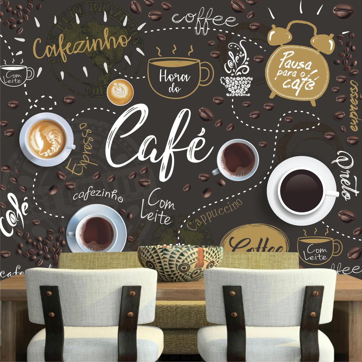 Papel de parede cozinha lav vel vin lico caf cafeteria - Papel decorado para paredes ...