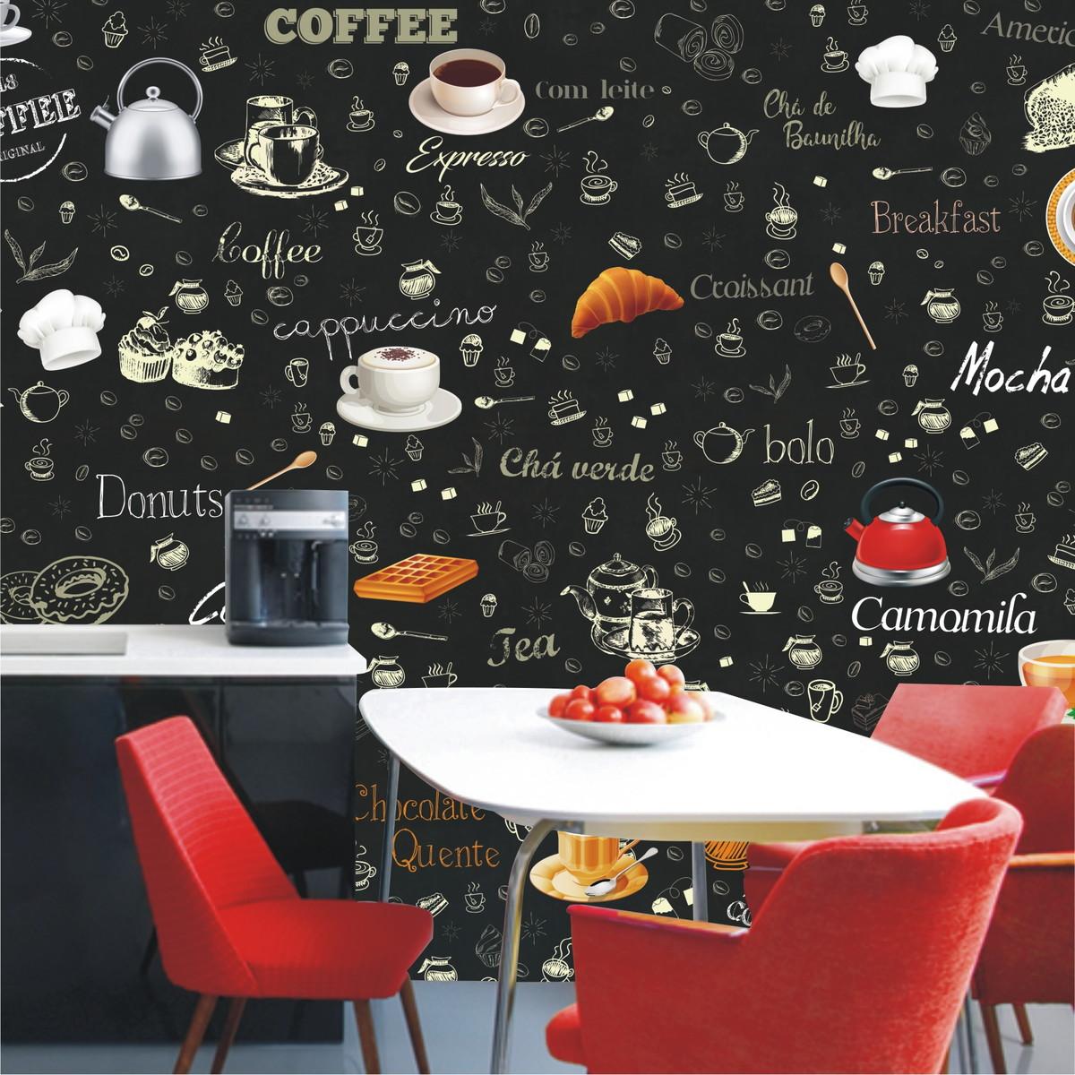 Papel De Parede Cozinha Lav Vel Vin Lico Caf Bar Sala M104 No Elo7  -> Papel De Parede Para Sala Lavavel
