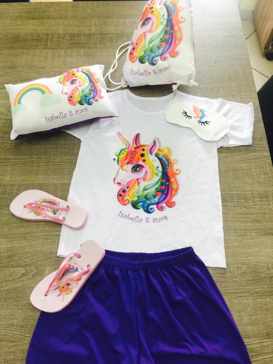 c3feef7e9e2cf9 festa do pijama unicornio tapa olhos almofada chinelo