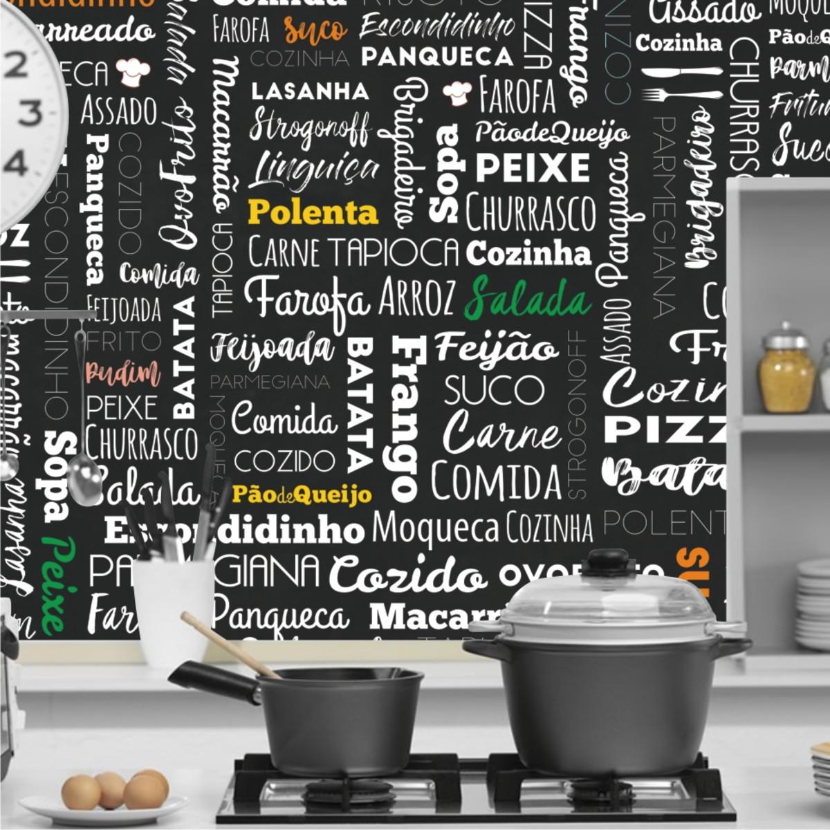 Papel De Parede Para Cozinha Gourmet 2m Vinilico M125 No Elo7