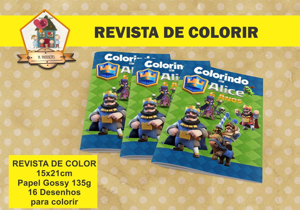 Revista De Colorir Clash Royale No Elo7 Jk Producoes B1ec58