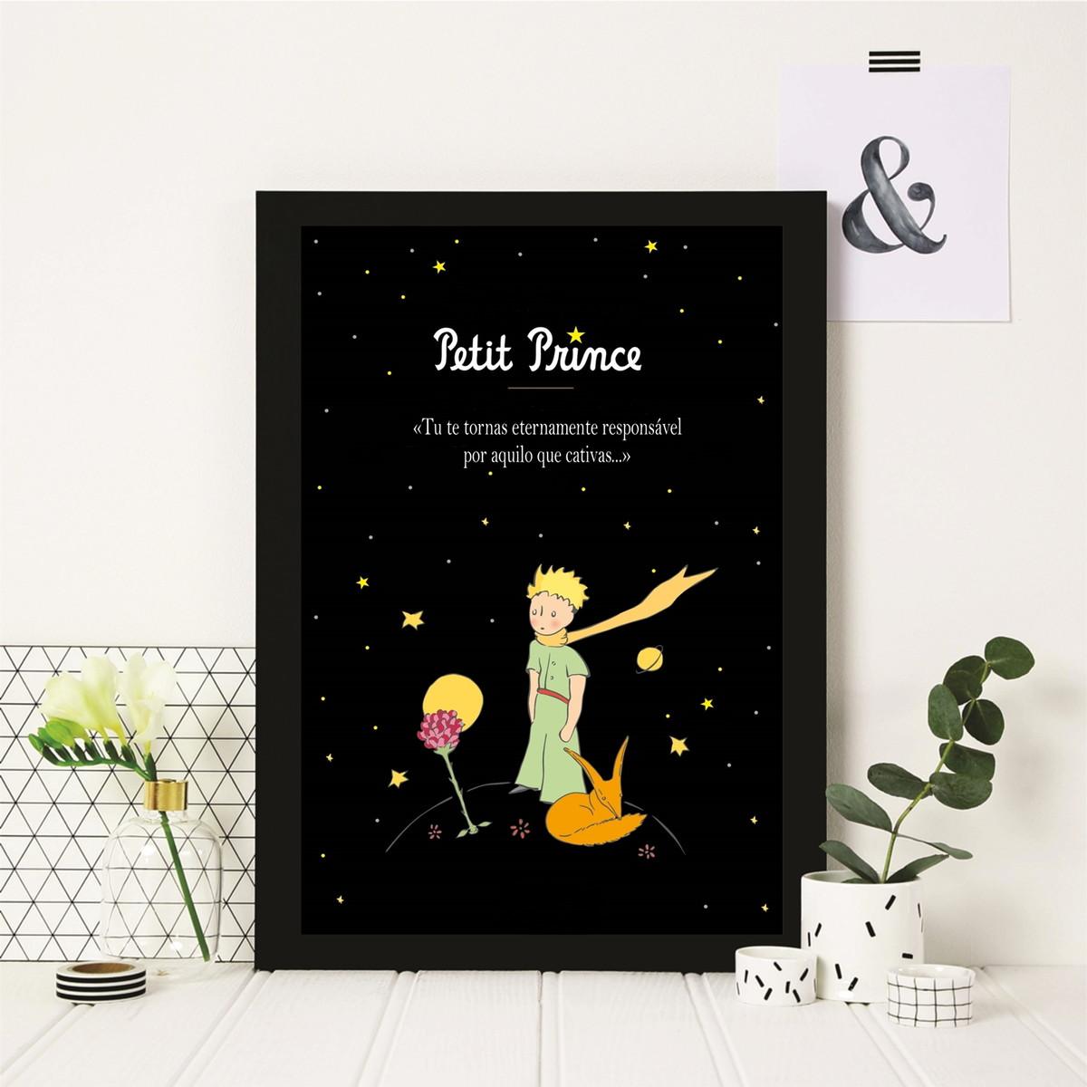 Poster Com Moldura O Pequeno Principe Frase No Elo7 Moldposter