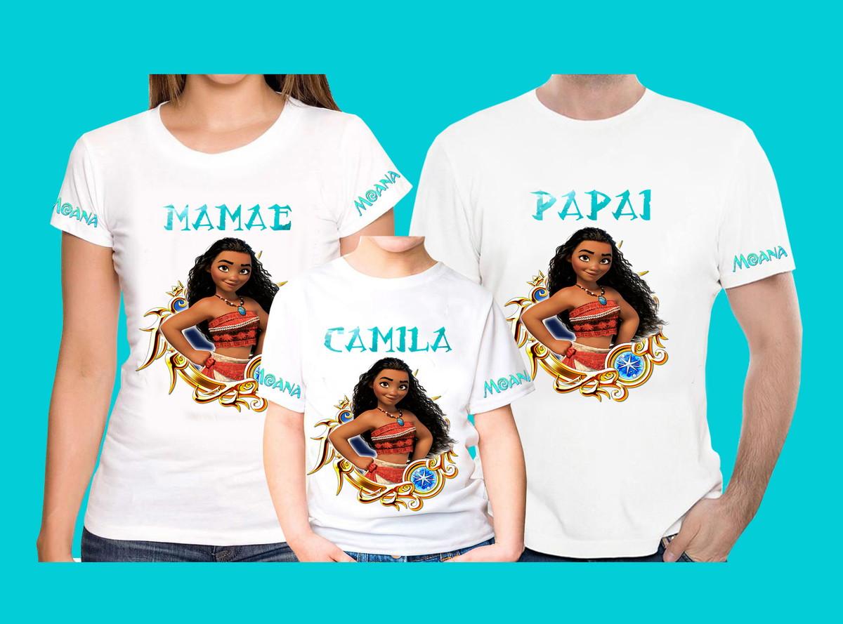 f5ebd90162139 Kit Camisetas Personalizadas Moana 2 no Elo7
