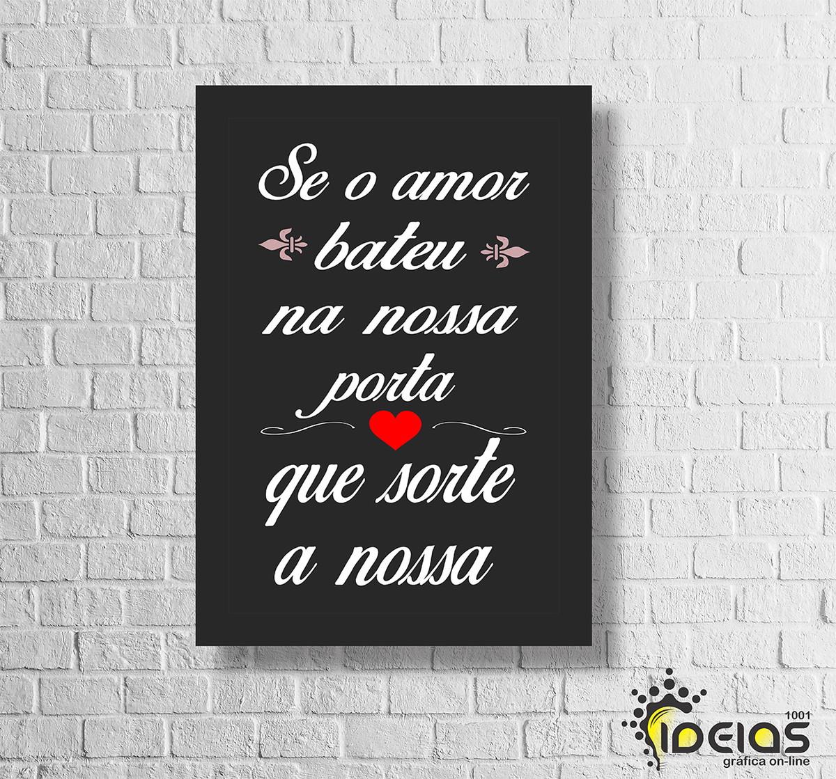 Quadro Frases De Amor 20x30