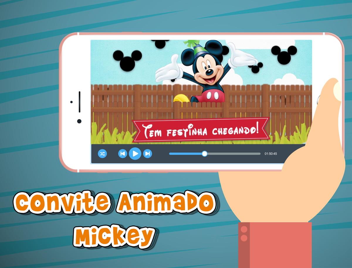 Convite Animado Virtual Mickey No Elo7 Al Produções 686839