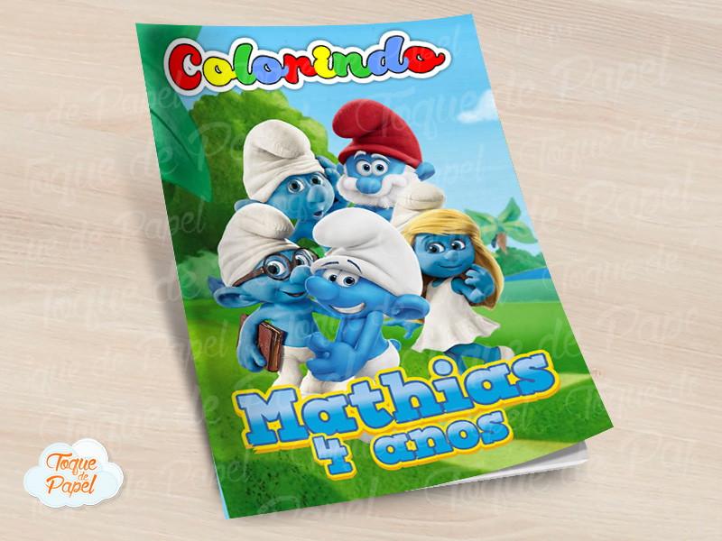 Revista Colorir Smurfs No Elo7 Toque De Papel B23a8e