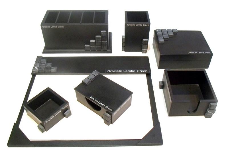 Organizador de mesa com 7 peças preto personalizado no Elo7  ce4f1c5f97b4c