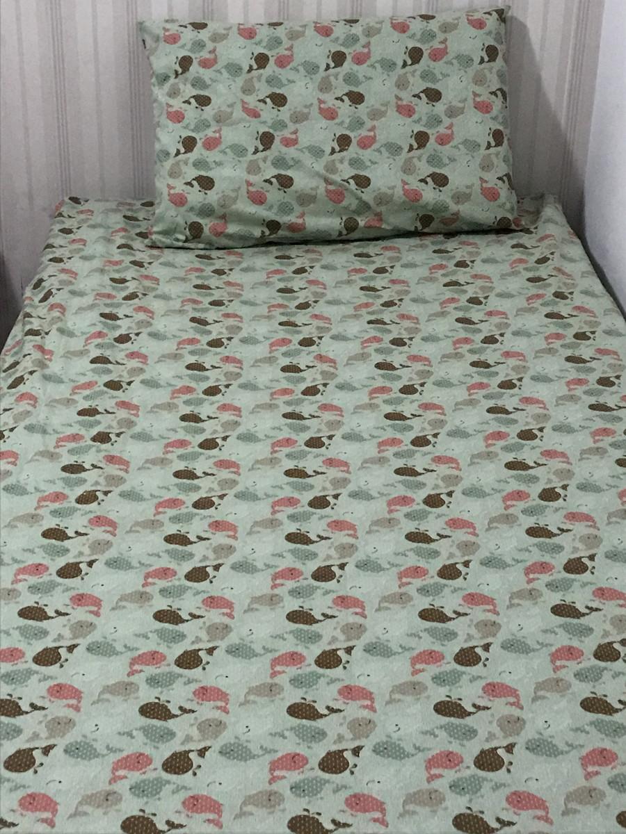 f141d2312d lençol elástico com fronha-cama solteiro no Elo7